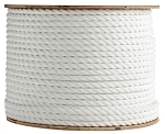 3 Strand Twisted White Polypropylene 1200-ft. x 1/4-inch - 2 Spools