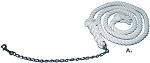 Cotton Lead Rope with 24-inch Lead Chain 10-ft. x 3/4-inch