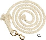 Cotton Lead Rope 6-ft. 6-inch x 1/2-inch